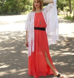 Maxi Dress Romper with Natural Waistline