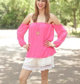 PUNCHYS Off-the-Shoulder Blouse Top in Multiple Colors