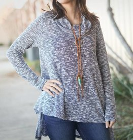 Navy Cowl Sweater