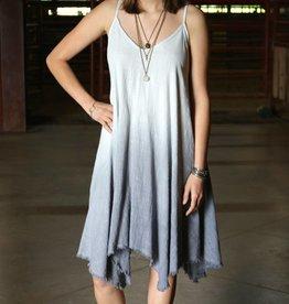 Soft Linen Grey Ombre Dress