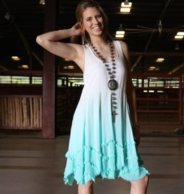 Black Swan Distressed Ombre Dress