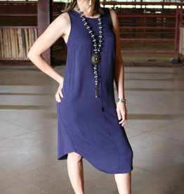 Black Swan Navy Knit Pocket Dress