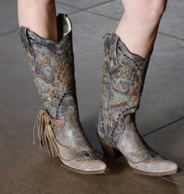 PUNCHYS Corral Vintage Sniptoe Boot with Fringe
