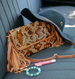 Laredo Burnt Brown Leather Clutch