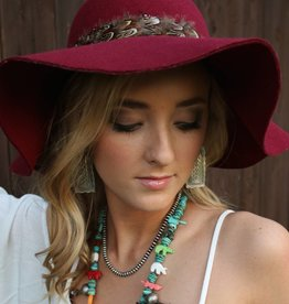 PUNCHYS Floppy Hat with Feather Band