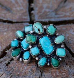 Carico Lake Turquoise Concho Earring