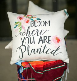 PUNCHYS Bloom Where You are Planted Pillow