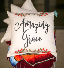 Amazing Grace Floral Pillow
