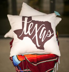 Maroon Texas Pillow