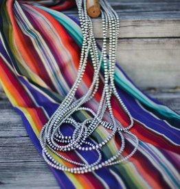 """5 Strand Long Navajo Pearls 60"""""""