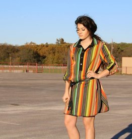 Serape Dress with Whipstitch Detail