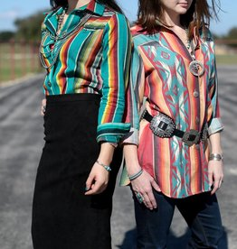 Ortiz Fashions Inc. Serape Shirt with Concho Buttons