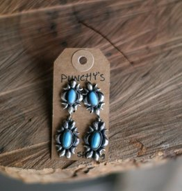 Sleeping Beauty Turquoise Dangle Earring