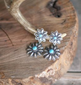 Two Tiered Flower Earring