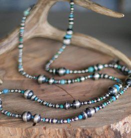 Mixed Navajo Pearls & Turquoise 48in