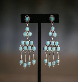 Campetos Turquoise Tiered Dangle Earring