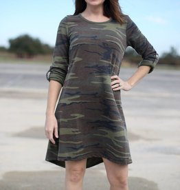 Z Supply Camo Green Symphony Dress