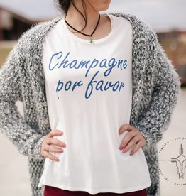 Champagne Por Favor Graphic Tee
