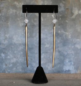 Dagger Earring With Saint Mary