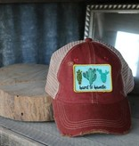 Maroon Hard To Handle Cactus Patch Hat