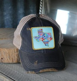 Cross Stitch Texas Patch Denim Hat