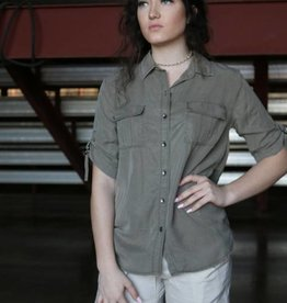 Military Front Button Shirt