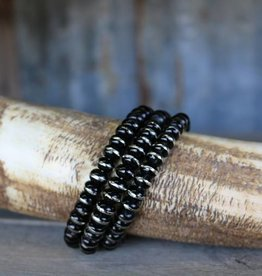Punchy's Burnished Silver Rondell Bracelet