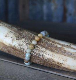 Punchy's Single Strand Natural Stone Stretch Bracelet