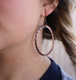 Tribal Design Copper Hoop