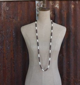 Worn Copper and Ivory Single Strand Necklace
