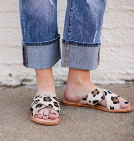 Ava Sandal with Cheetah Hair on Hide