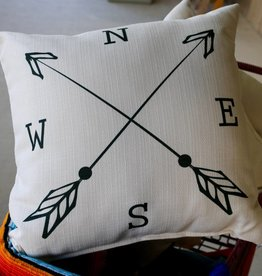 NESW Compass Pillow