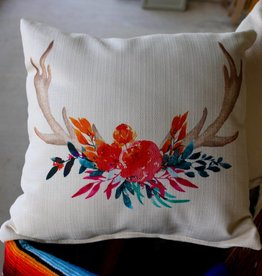 Rose Antler Pillow