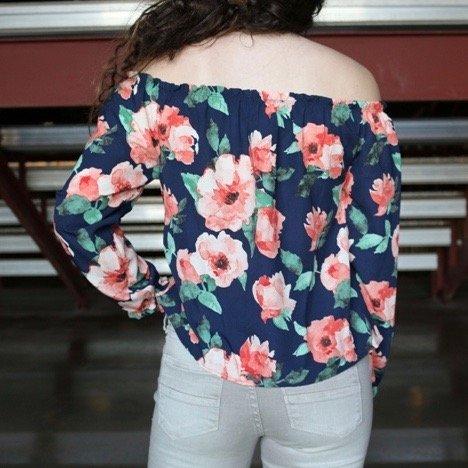 Rose Off-The-Shoulder Top
