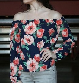 Rose Off-The-Shoulder Top