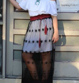 Sheer Lace Maxi Skirt