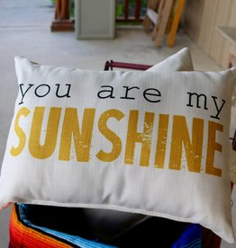 You Are My Sunshine Yellow Pillow