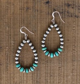 Mini Campetos Navajo Pearl Teardrop Earring
