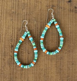 Multi Stone Teardrop Earring