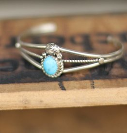 Petite Old Pawn Turquoise Cuff