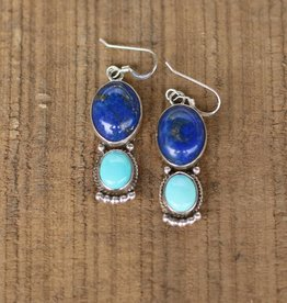 Campetos Turquoise and Lapis Earring