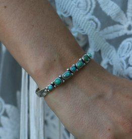 Multi Turquoise Sterling Silver Cuff