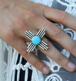 Zia Sun Campetos Turquoise Ring size 8