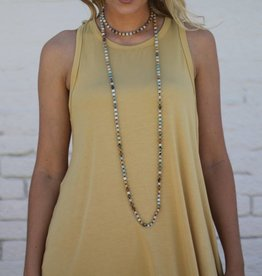 Bamboo Fabric Trapeze Tank Top