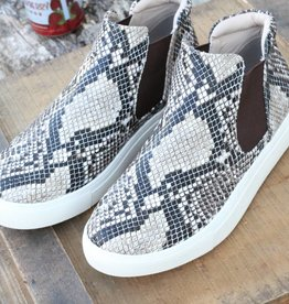 High Top Slip On Snake Skin Sneakers