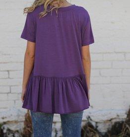 Purple Drop Waist Top