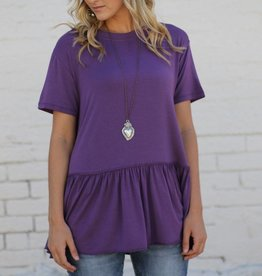 Purple Drop Waist Top