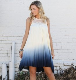 Black Swan Ivory Ombre Blue Dress