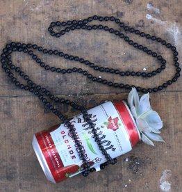 Matte Black Beaded Necklace