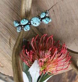 Blue Moon Turquoise Cluster Cuff